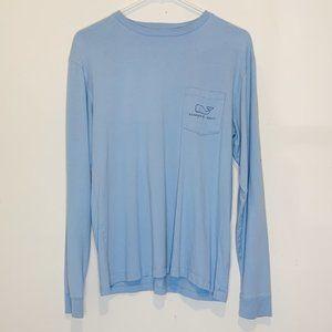 Vineyard Vines Light Blue Long Sleeve T-Shirt S